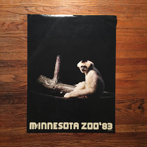 Vintage Minnesota Zoo Posters by Lance Wyman - Set of 2 - 1982 1983 - Rare Vintage Posters - Lance Wyman Typography - 1980s Posters