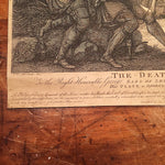 Francesco Bartolozzi Engraving - 1788 - The Death of Sr. Philip Sydney - After John Mortimer - Rare Engraving - 18th Century - Old Master
