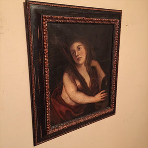 Old Master Painting of Woman - 19th Century - French ? - Oil on Canvas - Ornate Wood Frame - Nude Painting - 1800s - Mystery Artist