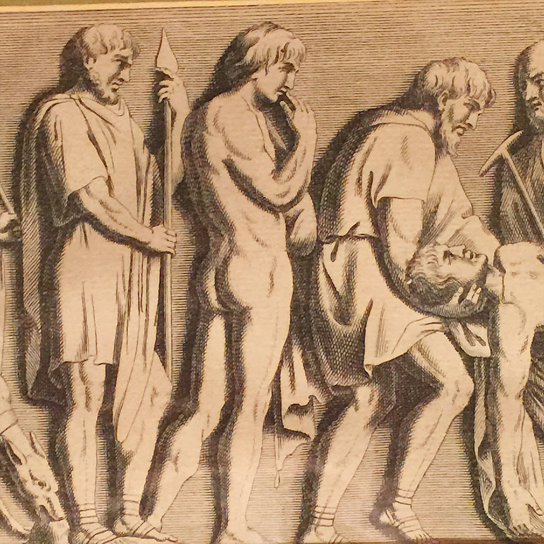 Rare Roman Funeral Procession Engraving - 1730 - Funeral Pyre Scene - Classical Roman Engraving - Morbid Wall Art - Funeral Death Scene