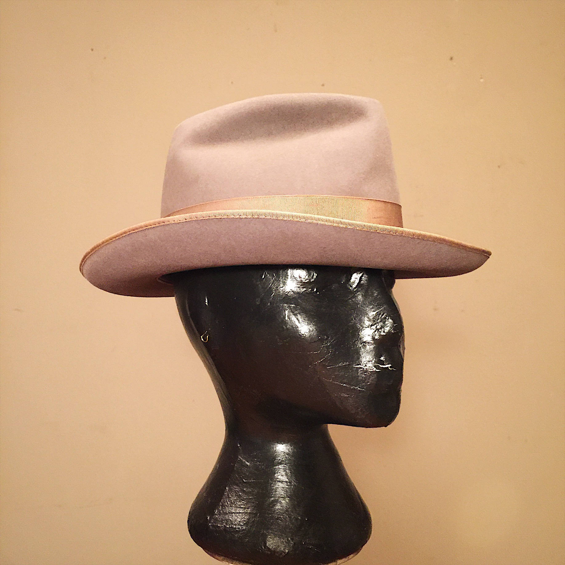 Scott Ltd Fedora Hat - New York Fedora - 1950s? - 7 1/8? -  Custom Fedora - Vintage Felt Fedora Hat - Gangster Hat - Godfather