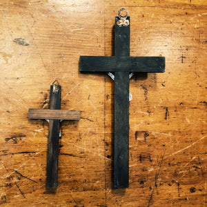 Vintage Crucifixes with Skull and Crossbones - 1940s? - Set of 2 - Priest and Nun Crosses - Unkn