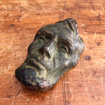 Antique Abraham Lincoln Bronze Resin Bust of Face