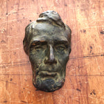 Vertical view of Antique Abraham Lincoln Bronze Resin Bust