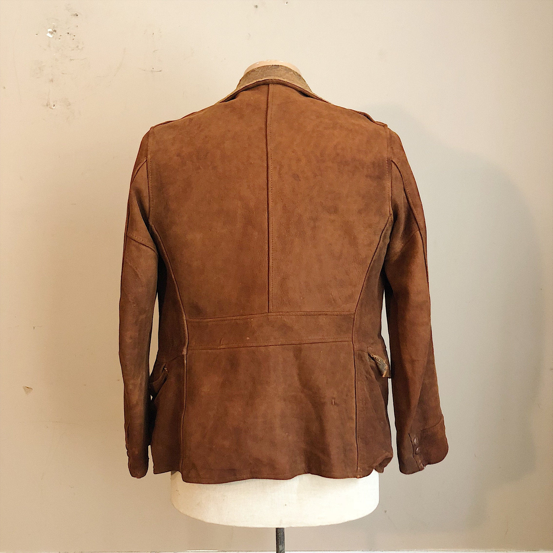 Reverse of 1930s Workwear Suede Leather Jacket
