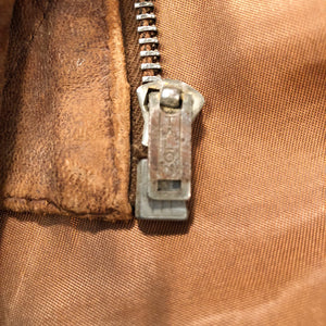 Talon zipper from 1930s Workwear Suede Leather Jacket