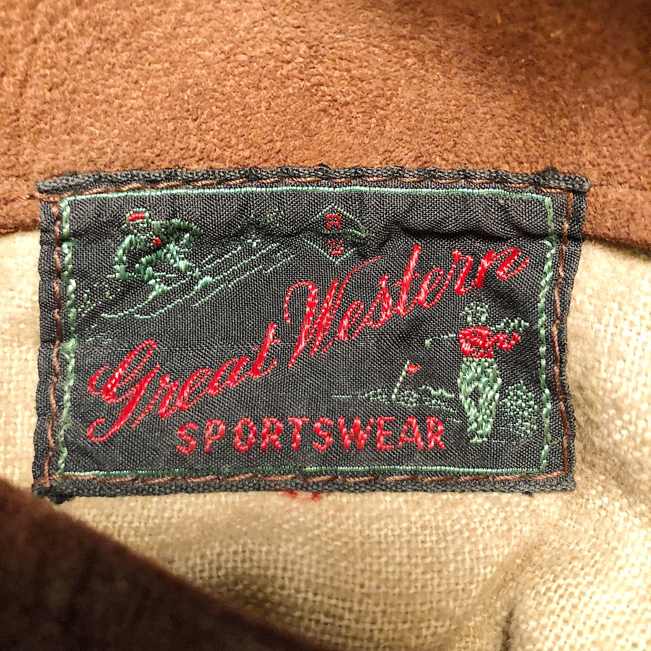 Vintage Great Western Sportswear Jacket Tag