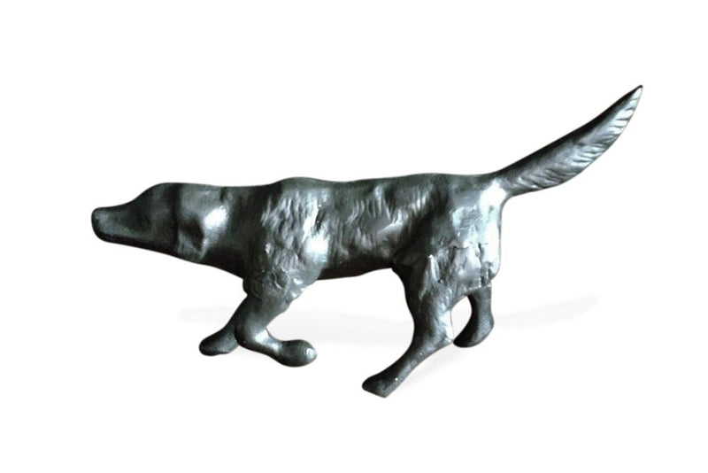 Bird Dog Sculpture Figurine Labrador Hunting Pointing - Cast Iron Metal - Rustic Deco Incorporated