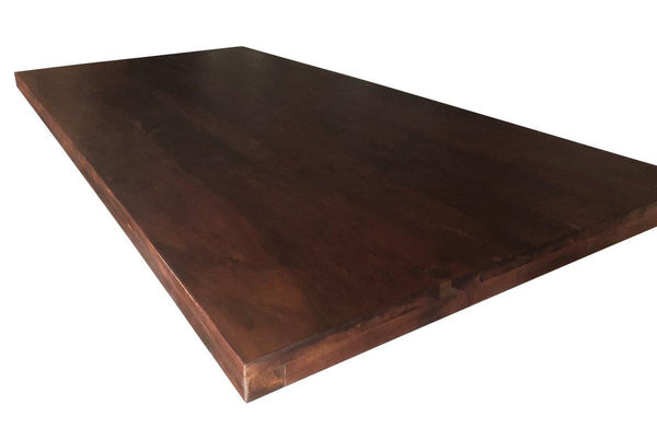 Dark Provincial Smooth Solid Acacia Dining Desk Top 70x36 Inch - Knox Deco