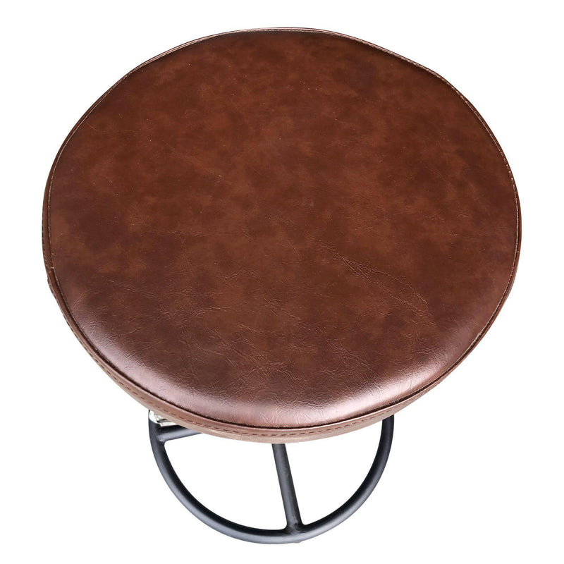 Industrial Iron Leather Bike Pedal Stool - Rustic Deco Incorporated