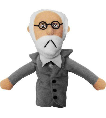 Sigmund Freud Finger Puppet and Fridge Magnet