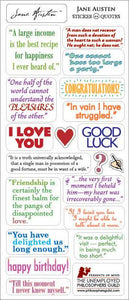 Jane Austen Greeting Card with Sticker Quotes