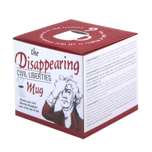 Unemployed Philosophers Guild Disappearing Civil Liberties Mug