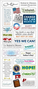 Barack Obama Greeting Card with Sticker Quotes