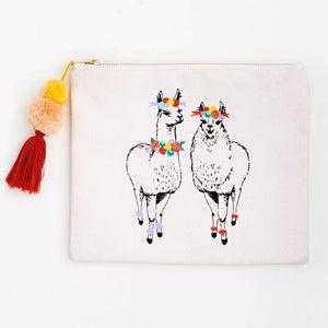 Paper Source Llama Queen Canvas Pouch