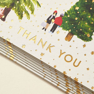 Paper Source, Tree Farm Thank You Cards
