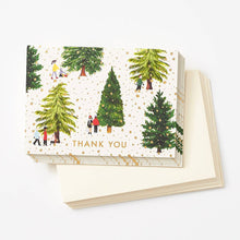 Load image into Gallery viewer, Paper Source, Tree Farm Thank You Cards