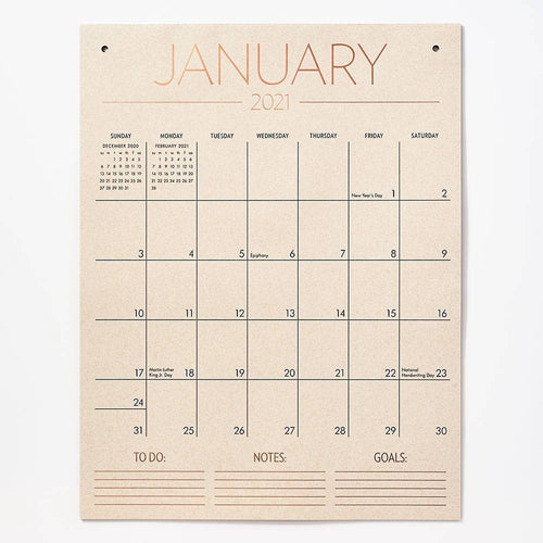 Paper Source Tall on The Wall Calendar 2021