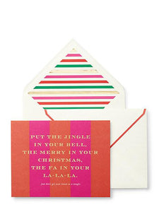 Holiday-Kate Spade Tinsel in a Tangle Card Set - Petals and Postings