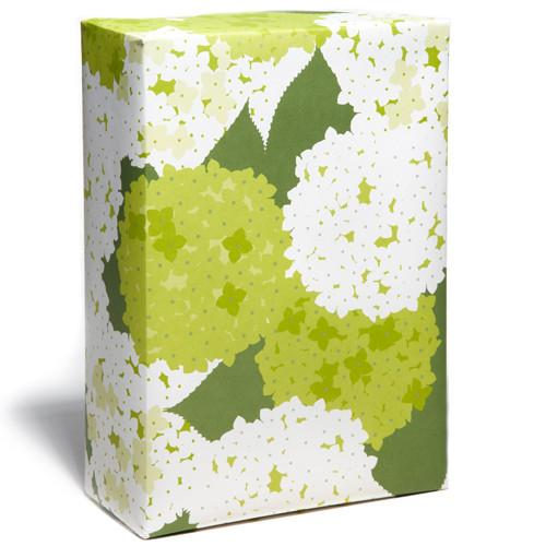 Holiday-Snow & Graham-Hydrangea Gift Wrap - Petals and Postings