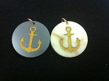 Load image into Gallery viewer, Moon and Lola Anchor Charm - Gray - Petals and Postings