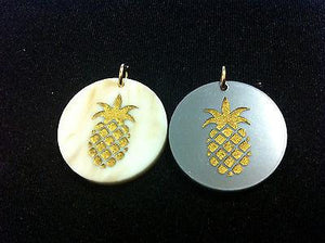 Moon and Lola Pineapple Charm - Multiple Colors available- Marble or Gray - Petals and Postings