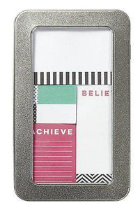 Dream Believe Achieve Sticky Note Set - Petals and Postings