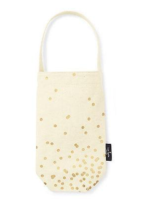Kate Spade Gold Dot Wine Tote - Petals and Postings