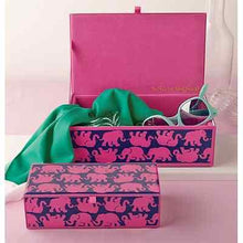 Load image into Gallery viewer, Lilly Pulitzer Tusk in Sun Medium Glass Storage Box - Petals and Postings
