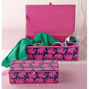 Lilly Pulitzer Tusk in Sun Medium Glass Storage Box - Petals and Postings