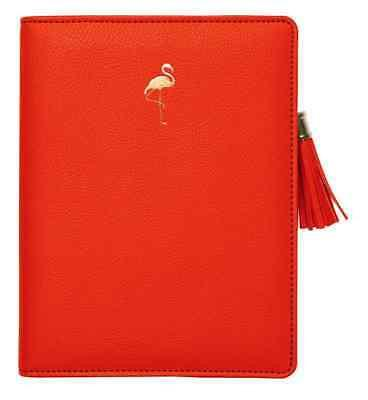 Orange Flamingo Zipper Cover Journal - Petals and Postings