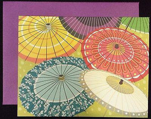 Parasols - 8 Notes/Envelopes - Petals and Postings