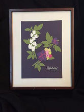 "Load image into Gallery viewer, Snow and Graham Art Print - Blueberry - 7.5"" x 10.5"" - Petals and Postings"