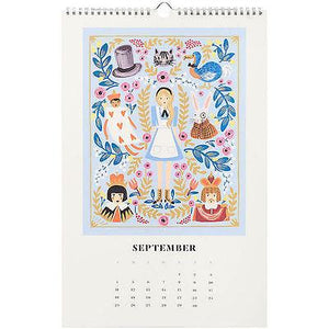 Rifle Paper Co. 2016  Alice in Wonderland Calendar - Petals and Postings