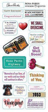 Load image into Gallery viewer, Stationery-Rosa Parks - Quotable Notables -  Blank note card with sticker quotes - Petals and Postings