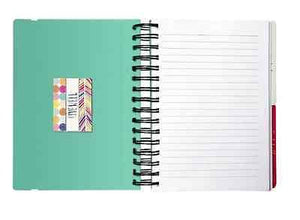 Colorful Stripes 3-in-1 Spiral Notebook - Petals and Postings