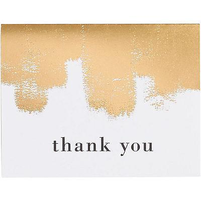 Gold Roller Foil Thank You Cards - Set of 10 - Petals and Postings