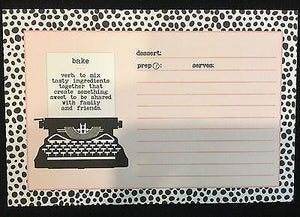 Matrick and Eve Recipe Cards - Bake Typewriter - Petals and Postings