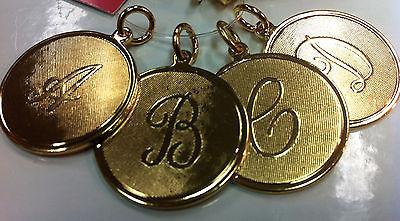 Moon and Lola Medium Gold Letter Charms - B, D, H, J - Petals and Postings