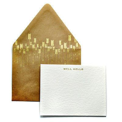 Stationery-Haute Papier - Arrow Mail - Hello - Petals and Postings