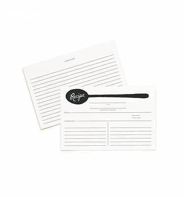 Rifle Paper Co. Charcoal Spoon Recipe Cards - Petals and Postings