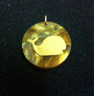 Whale Charm - Moon & Lola - Multiple Colors available- Marble or Tiger Eye - Petals and Postings