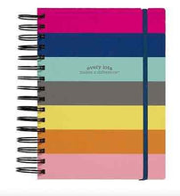 Load image into Gallery viewer, Colorful Stripes 3-in-1 Spiral Notebook - Petals and Postings
