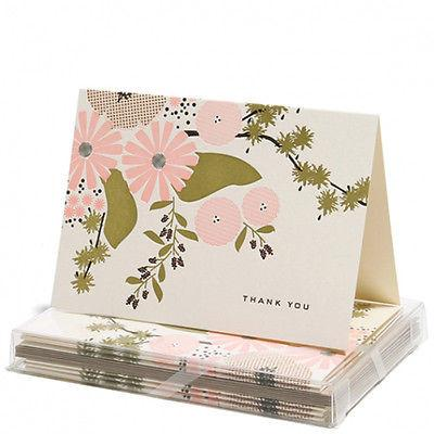 Stationery-Thank You Cards - Floral- Snow and Graham - Set of 6 - Petals and Postings