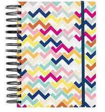 Load image into Gallery viewer, Colorful Chevron 3-in-1 Spiral Notebook - Petals and Postings