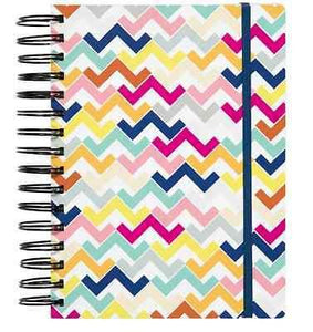 Colorful Chevron 3-in-1 Spiral Notebook - Petals and Postings