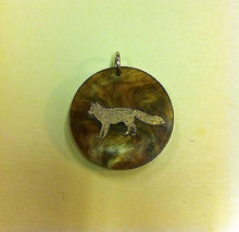 Load image into Gallery viewer, Moon and Lola Fox Charm - Multiple Colors available - Black or Tiger's Eye - Petals and Postings