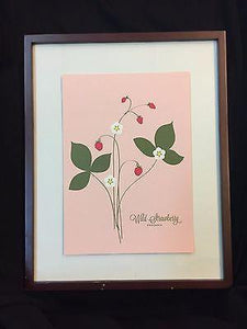 "Snow and Graham Art Print - Wild Strawberry - 7.5"" x 10.5"" - Petals and Postings"