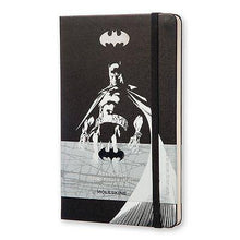 "Load image into Gallery viewer, Moleskine - Limited Edition Batman 5""x 8.25"" Plain Notebook - Petals and Postings"