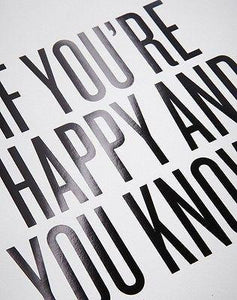 """If You're Happy and You Know It"" Print by Read Between The Lines - Petals and Postings"
